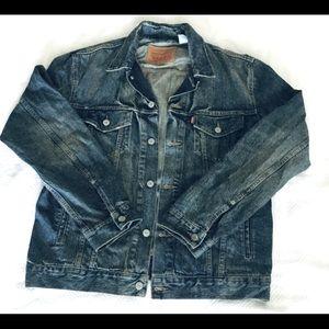 Men's Levi Denim Trucker's Jacket Large